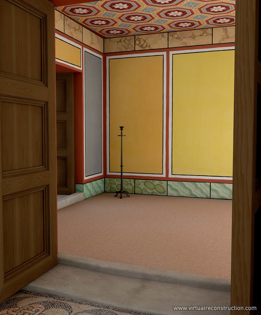 Reconstruction of the inside of Hadrian's palace