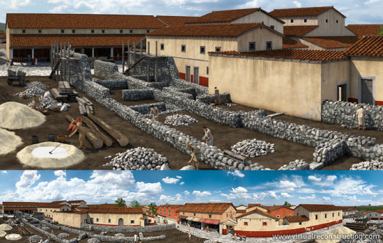 Reconstruction of the Aquincum Civil Town for the third Chronoscope.