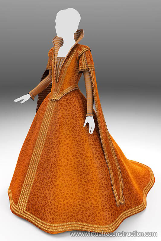 Medieval dress reconstruction