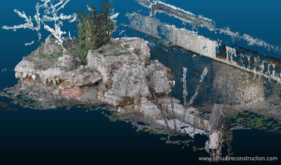 Point cloud made from 80 photos.