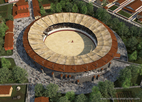 Reconstruction of the Aquincum Civil Town Amphitheatre