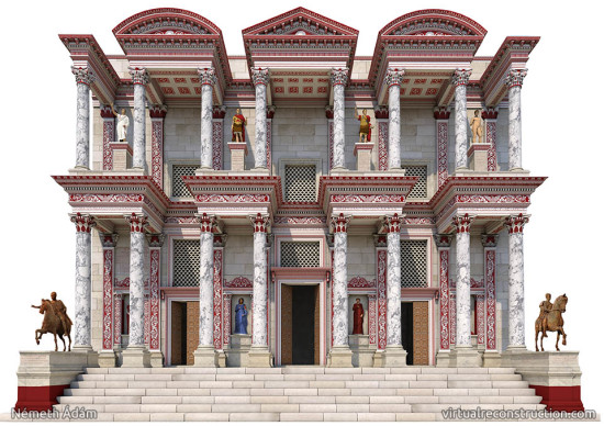Virtual reconstruction of the Celsus library
