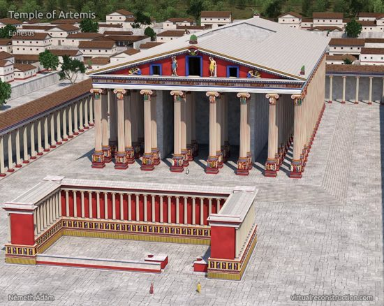 Bird's-eye view of the Temple of Artemis or Artemision.
