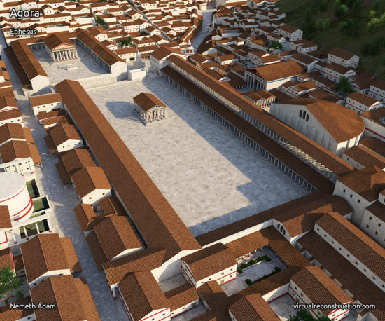 Reconstruction of the Agora of Ephesus