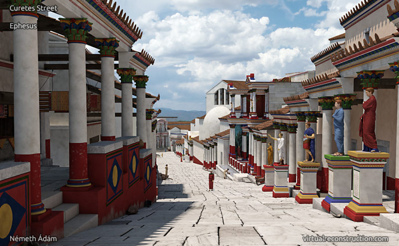 Virtual reconstruction of the Curetes street