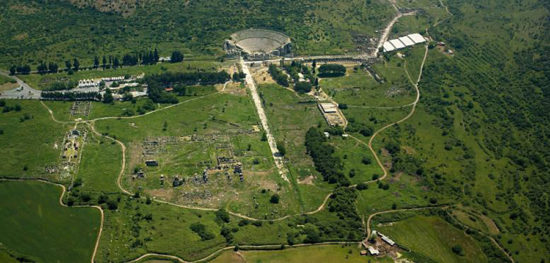 Aerial view of the ruins