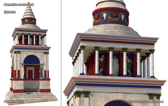 Virtual reconstruction of the Memmius monument