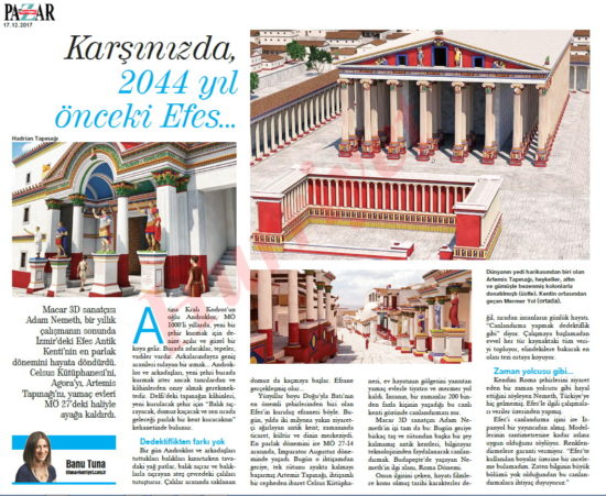 Hurriyet article about Ephesus