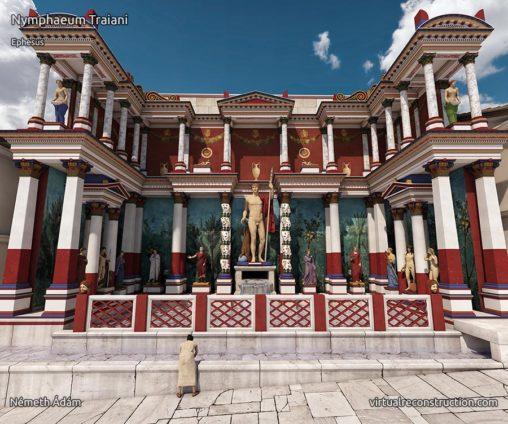 Nympheum Traianus Ephesus virtual reconstruction