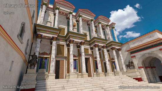 Celsus library virtual reconstruction