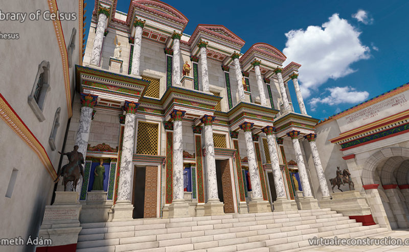 Celsus library virtual reconstruction