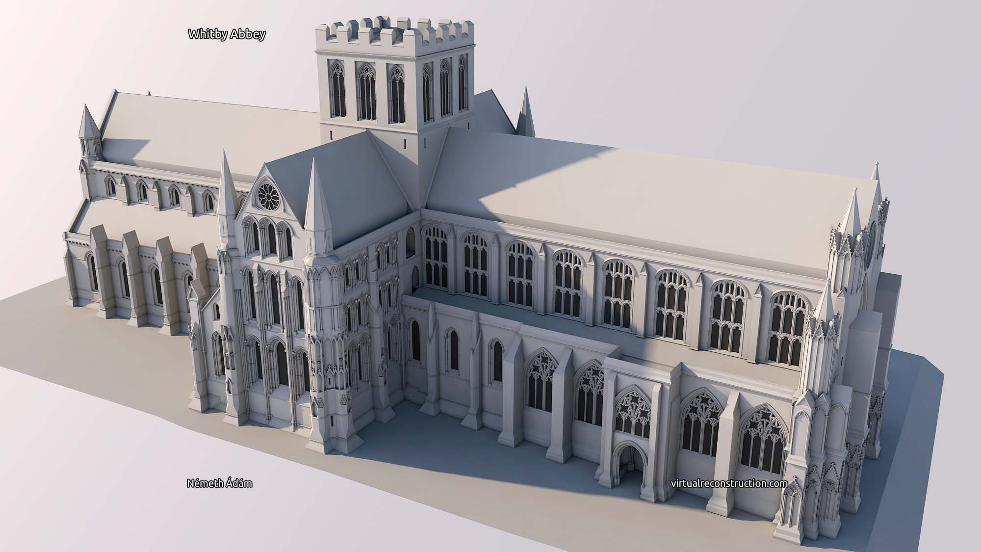 Virtual reconstruction of the Whitby Abbe
