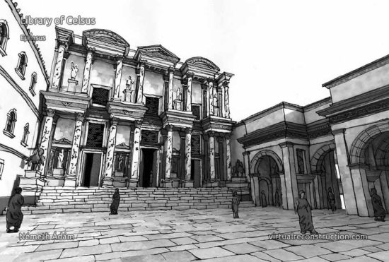Celsus library drawing
