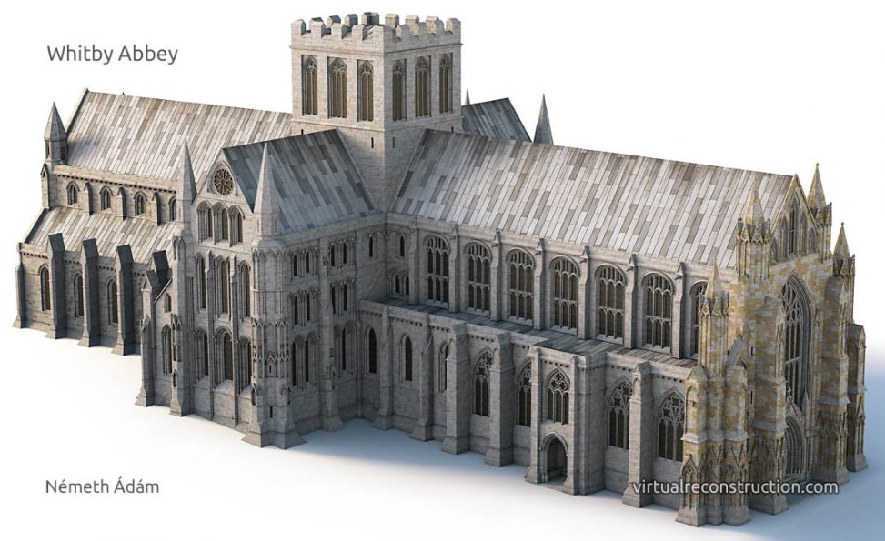 Whitby Abbey virtual reconstruction