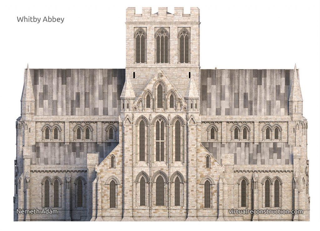 Whitby Abbey virtual reconstruction East front