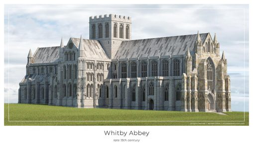 Whitby Abbey virtual reconstruction poster